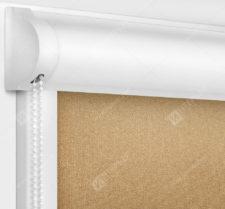 Рулонные кассетные шторы УНИ - Металлик светло-коричневый
